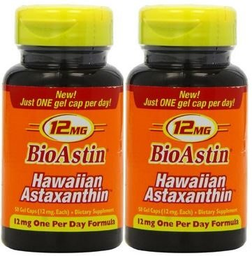 BioAstin, Hawaiian Astaxanthin, 12 mg, 50 Gel Caps (100 caps)