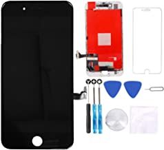 Screen Replacement Black for iPhone 8 Plus (5.5 inch) - 3D Touch LCD Screen Digitizer Replacement Frame Display Assembly Set with Repair Tool Kit + Free Screen Protector