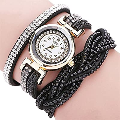 Clearance!!! Women's Wristwatch,Jushye Ladies Girls Watches Bohemian Style Fashion Weave Leather Bracelet Lady Womans Wrist Watch (H)
