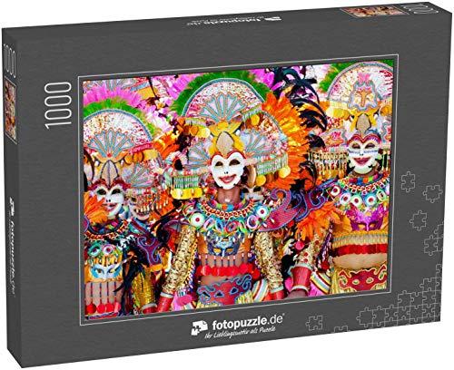fotopuzzle.de Puzzle 1000 Teile Parade der bunten lächelnden Maske beim Masskara Festival, Bacolod City, Philippinen (1000, 200 oder 2000 Teile)
