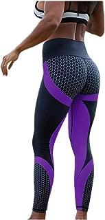 Women's 3D Honeycomb Printed Yoga Pants Skinny Workout Gym Leggings Sports Training Cropped Pants