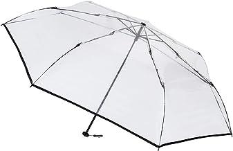[ムーンバット] estaa(エスタ) 透明ビニール折りたたみ傘 無地 58㎝【透明・軽量】