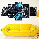 XLST Moderne Hohe Qualität Leinwanddruck 5 Panel Dead Space Painting Modular Wohnkultur Wandkunst Poster,B,10X15X210X20X210X25X1