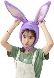 Cuteboom Girl Rabbit Hat Eastern Bunny Hat Bunny Ears Cap Funny Party Holiday Hat Cute Costume for Men and Women