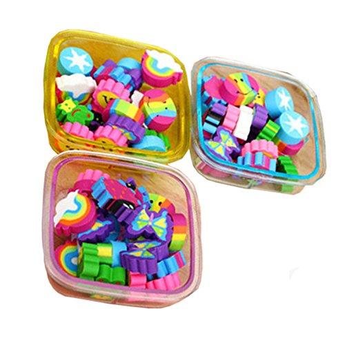 22 Teile / satz Radiergummis Set Kawaii Schulbedarf Schreibwaren Kind Geschenk, Fallfarbe Zufällig (Platz)