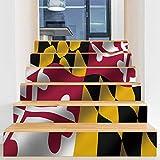 Adhesivo para escaleras, diseño creativo 3D, autoadhesivo, resistente al agua, extraíble, para armarios de cocina, escaleras, baño, decoración de arte principal