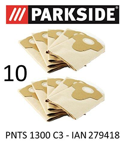 Parkside 10 Staubsaugerbeutel 20 L PNTS 1300 C3 Lidl IAN 279418 braun 906-05 Nass Trocken Sauger