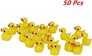 Slime Charms Duck Hard Resin Slime Beads Little Duckies for Crafts,Handmade School Project,Dollhouse Miniature, Home Decor Christmas Gift(50 Pcs)