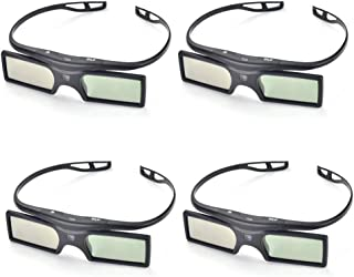 4 Pairs- Pergear 144Hz 3D DLP-Link Active Shutter Glasses for DLP-Link Projector Like Optoma/BenQ/Acer/LG