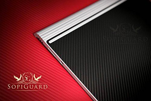 "SopiGuard Microsoft Surface Book 2 (13.5"") Carbon Fiber Precision Edge-to-Edge Coverage Easy-to-Apply Vinyl Skin Sticker Wrap (Carbon Wine Red)"