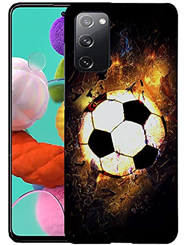 Glisten Samsung Galaxy S20 FE (4G/5G) & S20 Lite Case - Soccer On Fire Printed Sleek, Slim Fit & Cute Plastic Hard Snap on Designer Back Samsung S20 FE (4G/5G), S20 Lite Case