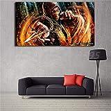 yhyxll Mortal Kombat Scorpion Charakter Tapete HD Leinwand