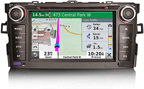 Android 10.0 Navegación GPS para Toyota AURIS Corolla ALTIS ALTIS, Pantalla táctil de la Radio estéreo de 7 Pulgadas, 2 DIN Sat Nav SWC Player Multimedia