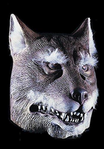 Masque de loup - Adulte - Taille Unique - Halloween - Latex - 1092