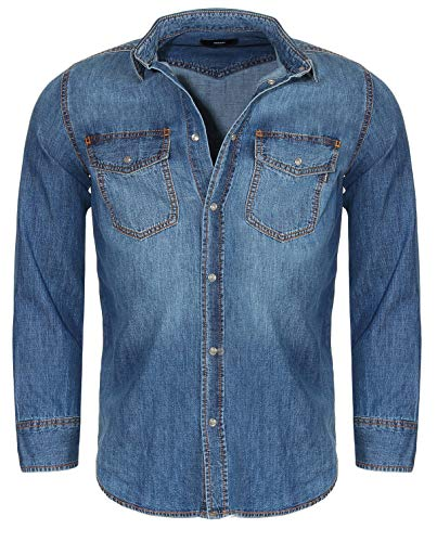 Diesel Jeanshemd - D-ROOKE Camicia - OPASD - L