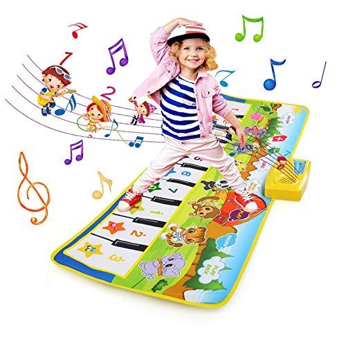 NEWSTYLE Juguetes Niños 2 Años, Alfombra Musical, Grande Alfombra Infantil, Touch Alfombra Musical Teclado, Alfombra de Piano Actividad Juego De Gimnasio Colchonetas, Regalo del Bebé Musical Tapete