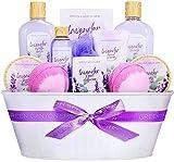 Green Canyon Spa Spa Geschenkkorb für Frauen, 12-teiliges Lavendel Bad Set, Duschgel, Raumduft...
