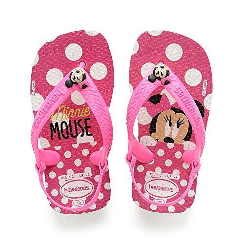 Havaianas Baby Disney Classics II, Unisex Baby Säugling-Unisex Baby, Mehrfarbig (White/Pink Flour), 21 EU
