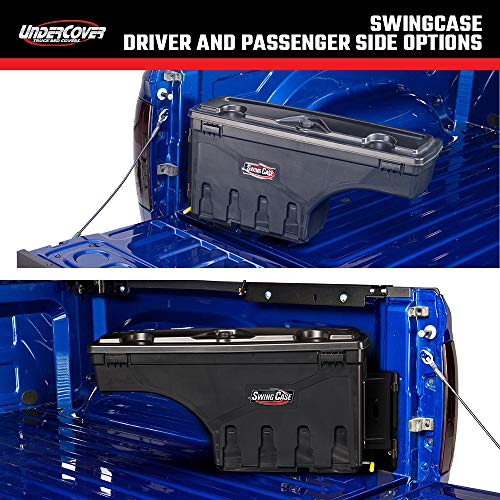 Undercover SwingCase Truck Bed Storage Box | SC206D | Fits 2019 - 2020 Ford Ranger Drivers Side , Black
