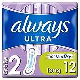 Always Ultra Binden Damen Gr. 2 (12 Damenbinden) Ultra Dünn Und Super Saugfähig, Geruchsneutralisierend Und Auslaufschutz