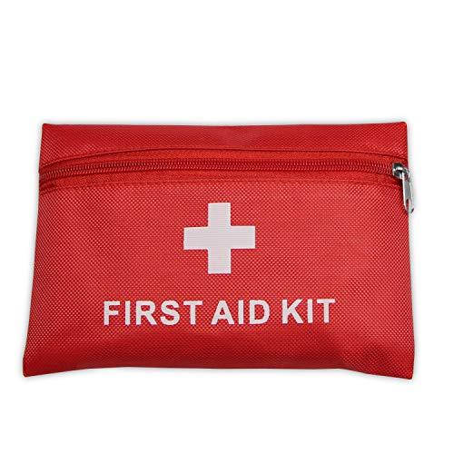 Botiquín de primeros auxilios con 42piezas, bolsa médica portátil,