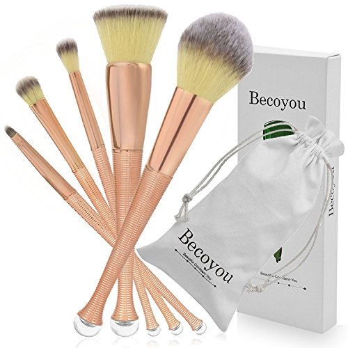 Becoyou Make Up Pennelli Trucco Ovale, Viso Contorni...