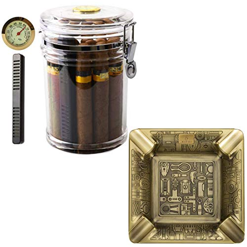 XIFEI Acrylic Humidor Jar and Cigar Ashtray