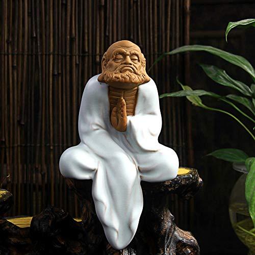 YANGHONDD Estatua de Buda de meditación Estatua de Buda de cerámica Estatua de Buda para decoración del hogar-S1_as_Shown