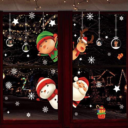 DURINM Navidad Pegatina Calcomanías para Ventanas Lindo Decoración De Ventanas Espiar Santa Claus Calcomanías Electrostáticas Ventanas