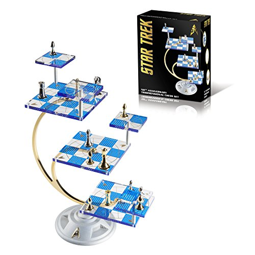 Franklin Mint's Official 50th Anniversary STAR TREK Tridimensional Chess Set by WE Games