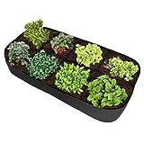ALTA QUALITà ---- la borsa per piante è realizzata in alta qualità. resistente alla corrosione e all'usura e di lunga durata. FACILE DA USARE --- spiegare, riempire e crescere; perfetto per un giardino di erbe, un piccolo giardino fiorito o verdure. ...