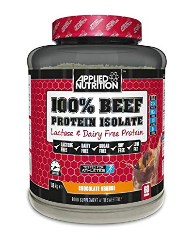 Applied Nutrition 100% Beef Protein Isolate Lactose and Dairy Free Supplement 1.8 kg | 60 Servings (Chocolate Orange)