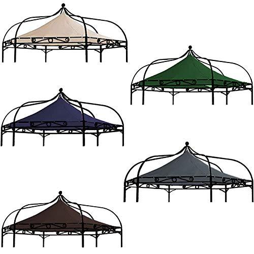 freigarten.de Ersatzdach für Pavillon Modena 6-eck 320cm Wasserdicht Material: Panama PCV Soft 370g/m² extra stark Modell 8 (Grün)