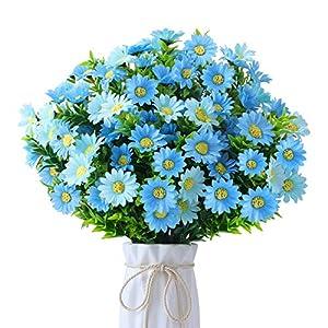 FOREDOO 6 Piezas de Flores Margarita Artificiales – Artificiales Pequeñas Margaritas, Planta Artificial Decorativa Flor…
