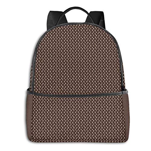 PEIGJH Mochilas Escolares Bolsa Daypack Mochila Tipo Casual para Niños Niñas para Portátiles Netbooks Colcha de Alfombra marrón