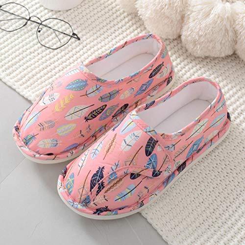 Oedeemschoenen, sandalen na diabetes,Dunne hakken voor kraamschoenen, kraamschoenen met zachte boorden-35_Pink,Lichtgewicht verstelbare beugel voor ouderen