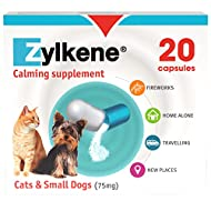 Zylkene Calming Supplement for Cats & Dogs up to 10kg 75mg | Helps ease Pet Anxiety in stressful sit...