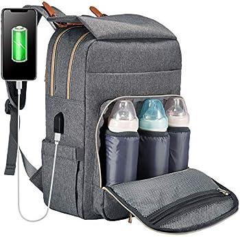 Lovevook Waterproof Diaper Bag Backpack with USB Charging Port