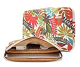 KAYOND Canvas Water-Resistant for 11-11.6 Inch Laptop Sleeve Case Bag (11-11.6 Inches, Forest Series White)