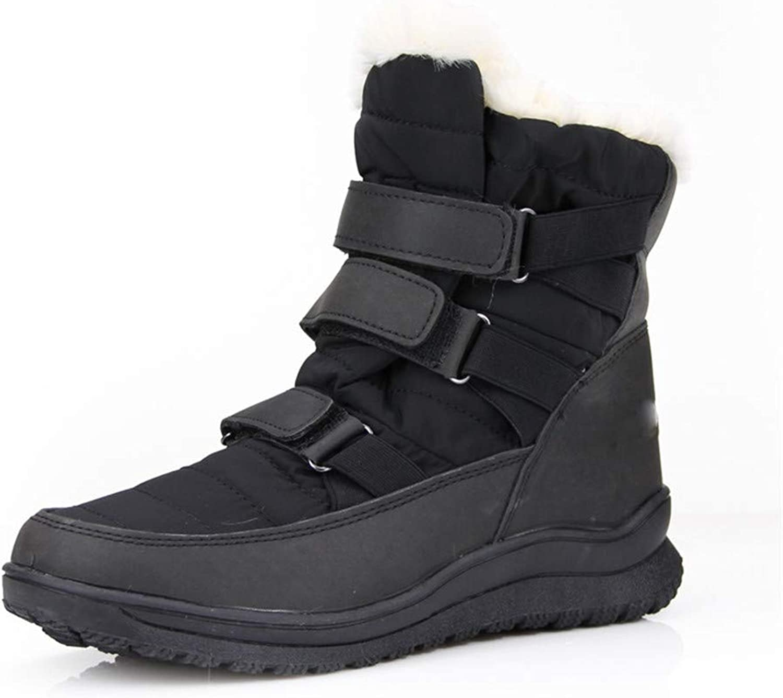 Women's Snow Boot Warm Waterproof Insulated Comfortable Winter Snow Boots,Black,36