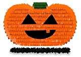 Get a pinata Pumpkin Halloween Pinata with Black stick-17'x10'x 5' Perfect for Halloween Party Decorations, Photo Prop, October Birthday, Funny and Spooky Anniversary - Fits Candy/Favors