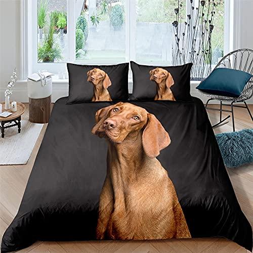 Funda nordica 105 Perro Labrador Ropa de Cama Anti decoloración Muy Suave Transpirable 200x200cm