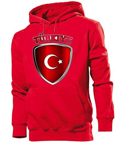 Golebros Turkei Turkey Türkiye Fan Artikel 4676 Hoodie Pulli Sweatshirt Kapuzen Pullover Flagge Fahne Männer Herren Jungen Boys WM 2022 Football World Cup L