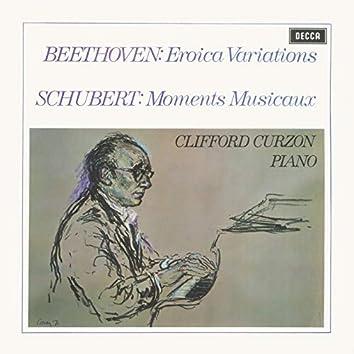 Beethoven: Eroica Variations / Schubert: Moments Musicaux / Britten: Introduction & Rondo alla burlesca; Mazurka elegiaca