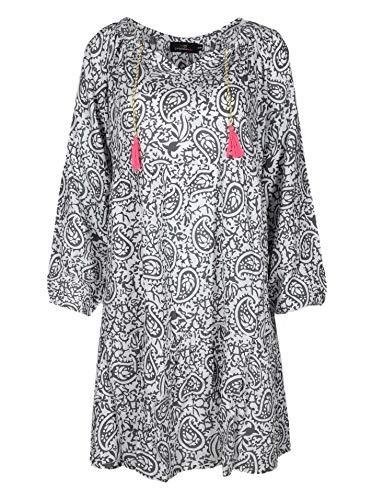 Zwillingsherz Sommerkleid im Paisley Design – Hochwertiges Abendkleid für Damen Frauen Mädchen - Freizeitkleid Cocktailkleid Strandkleid - Locker luftig – Perfekt für Frühling Sommer Herbst - Khaki