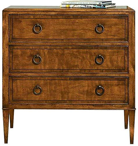Check Out This Port Eliot Chest Golden Cherry Ebony Stringing Handcut Dovetail 3-Drawers