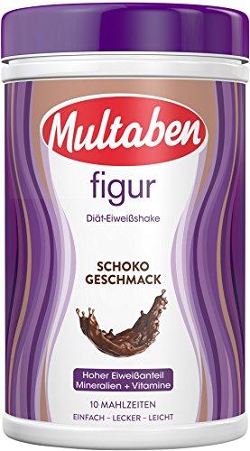 Multaben Diät Shake (430 g) – proteinreicher Abnehm Shake für eine Eiweiß Diät – Schoko-Geschmack mit Vitaminen und Mineralstoffen – sättigender Diät Drink als hochwertiger Nahrungsersatz