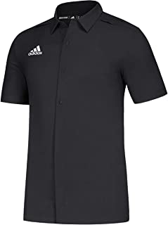 adidas Game Mode Full Button Polo - Men's Multi-Sport 4XLT Black/White