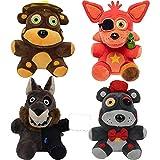 yskcsry 4 Unids / Set Cinco Noches En Freddy'S Chica Bonnie Bear Foxy Muñecas De Peluche De Animales Juguetes De Peluche Figura Coleccionable Regalo 18Cm