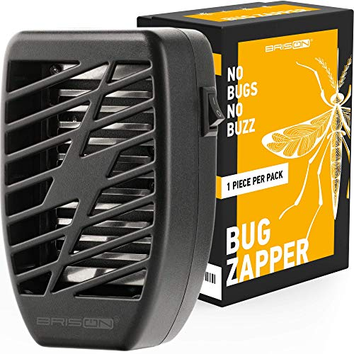 Indoor Plug-in Bug Zapper - Power Portable Home Electric Insect Trap - Odorless Noiseless for Removes Flies Mosquitos Gnats Moth and Bugs - 1 Pack - Black